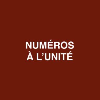 Numéros à l'unité